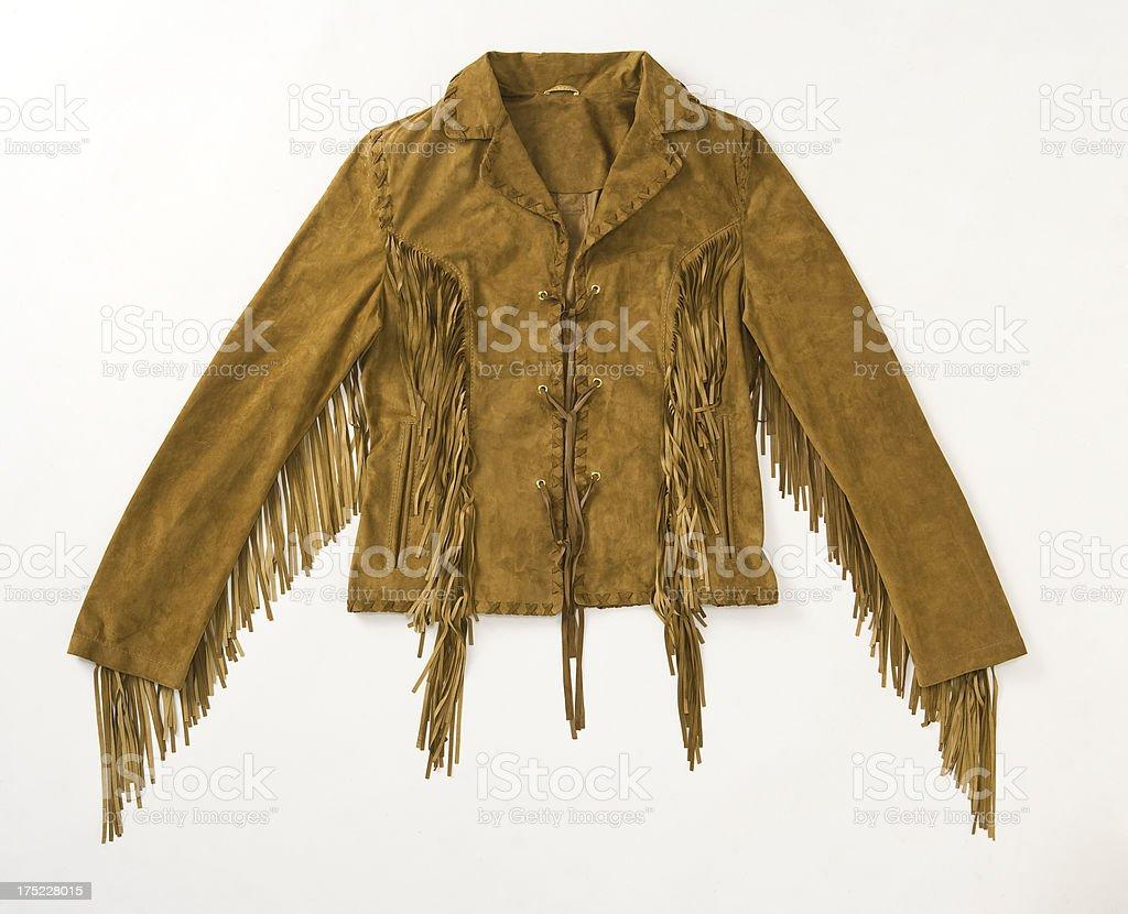 suede jacket stock photo