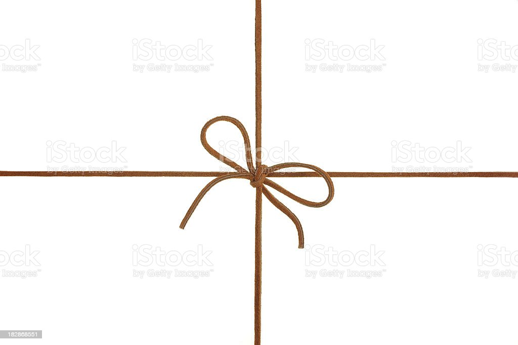 Suede Leather Bow stock photo