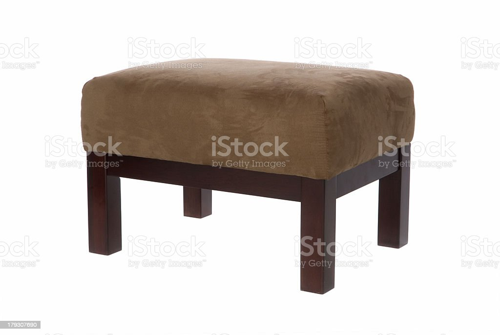 Suede Ottoman (Isolated) royalty-free stock photo