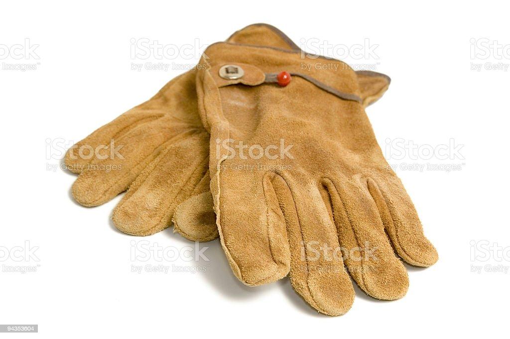 Suede Work Gloves stock photo