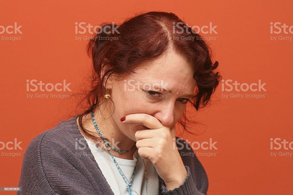 suffering and tears royalty-free stock photo