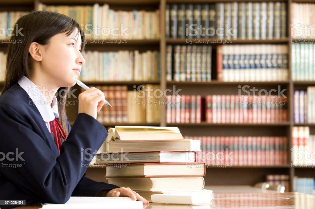 女子中学生に苦しんで ストックフォト