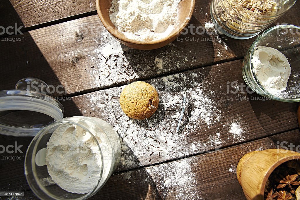 Suffering from flour abuse royalty-free stock photo