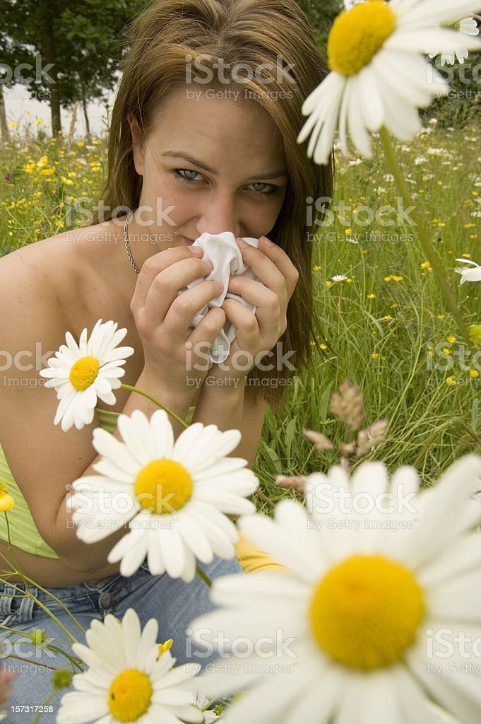 suffering from hay fever royalty-free stock photo