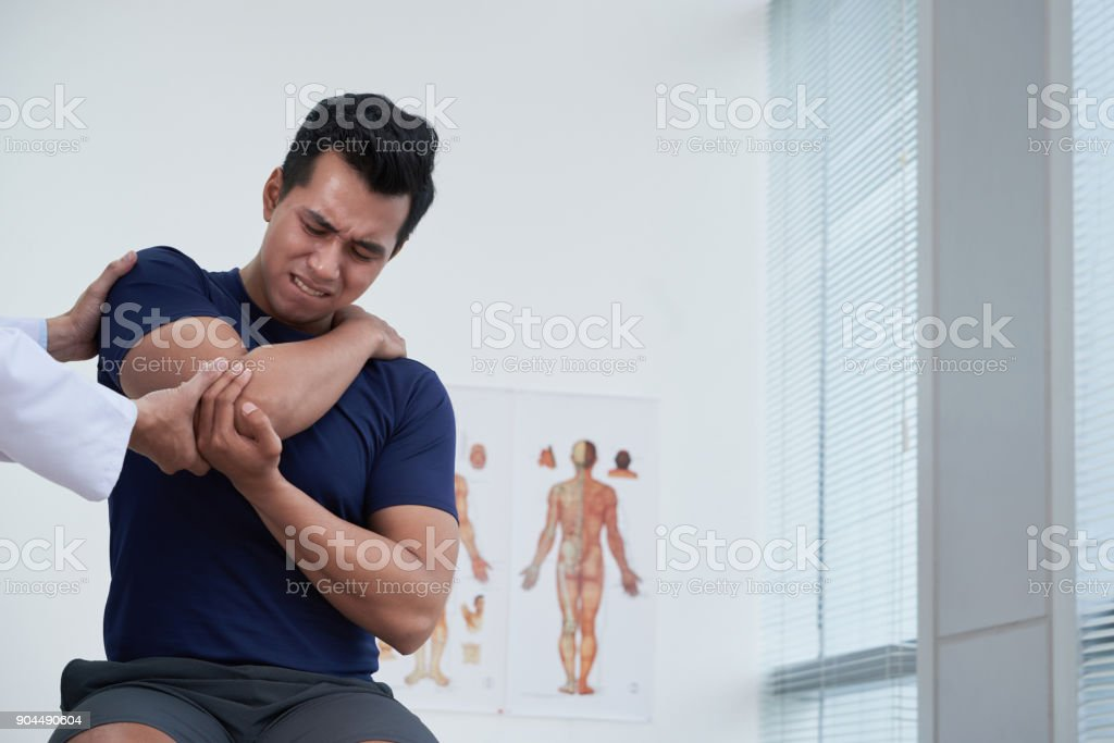 Suffering from pain stock photo