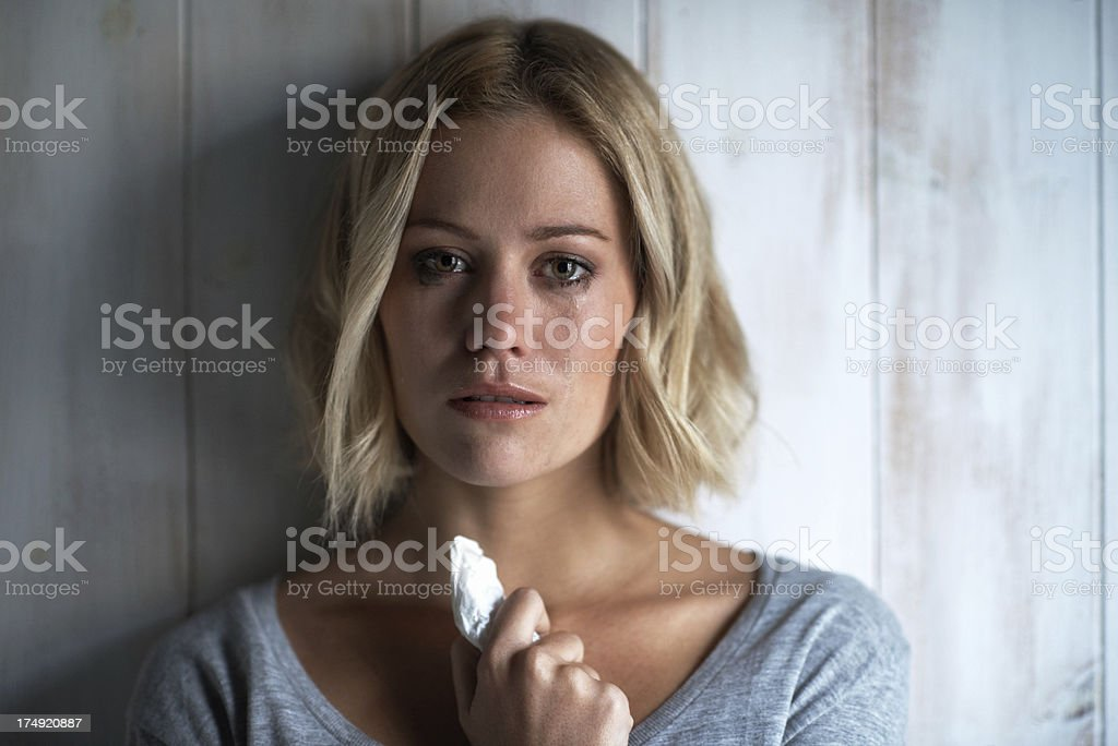 Suffering in silence stock photo