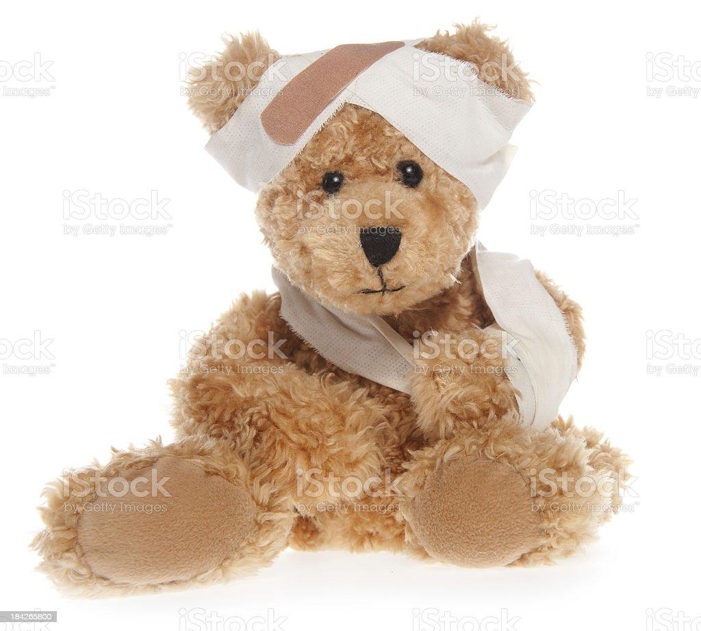 Suffering Injured Sweet Teddy Bear stock photo