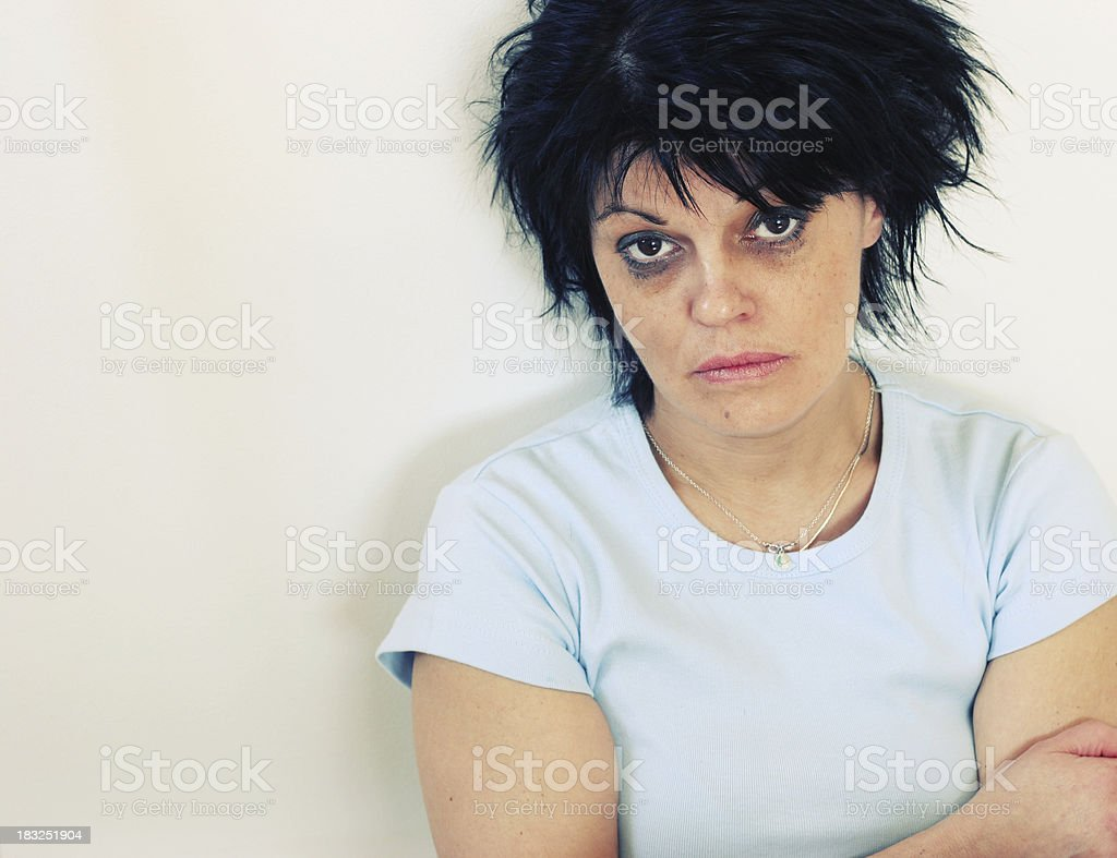 Suffering royalty-free stock photo