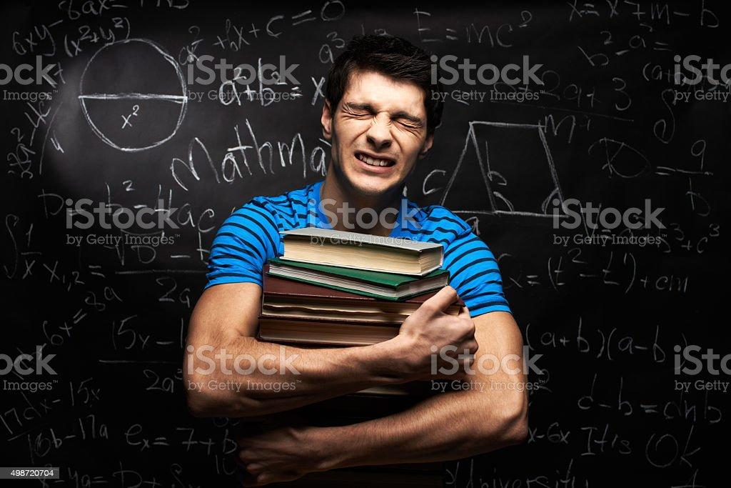 Suffering student stock photo