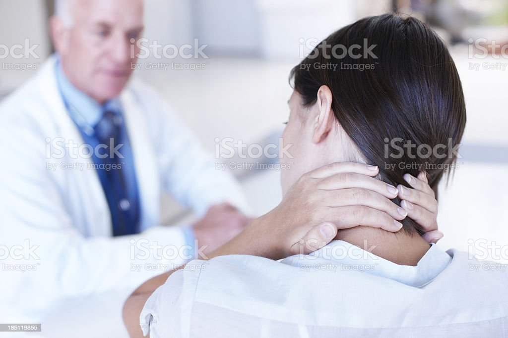 Suffering the results of modern stress? stock photo