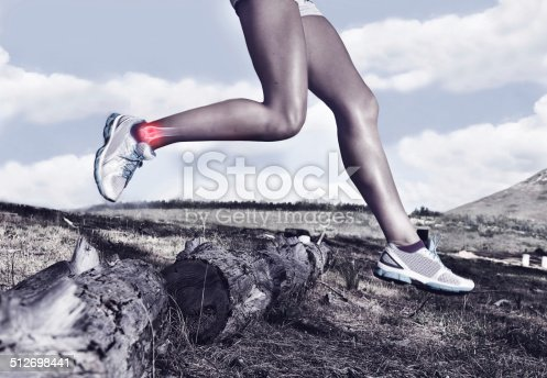 istock Suffering through this trail run 512698441