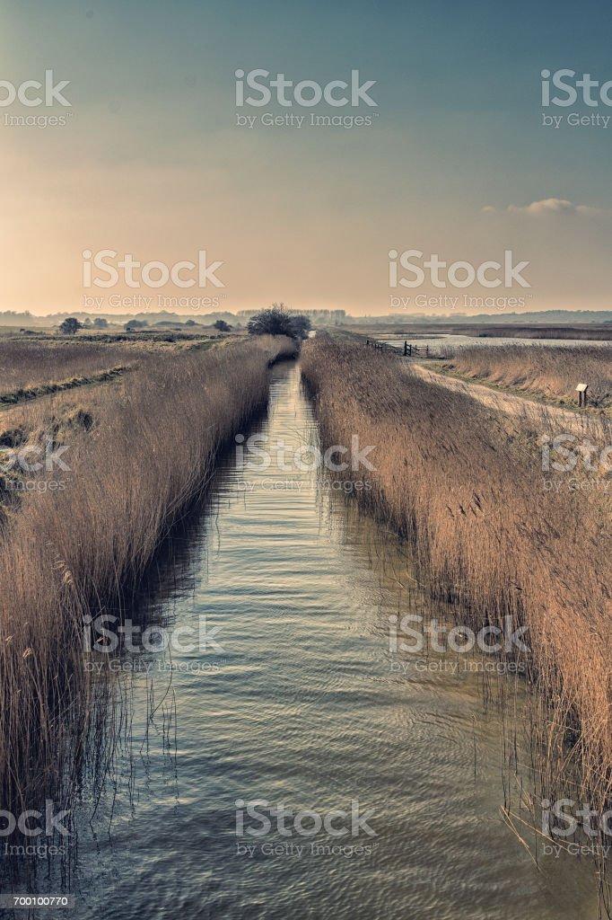 Canais de Suffolk - foto de acervo