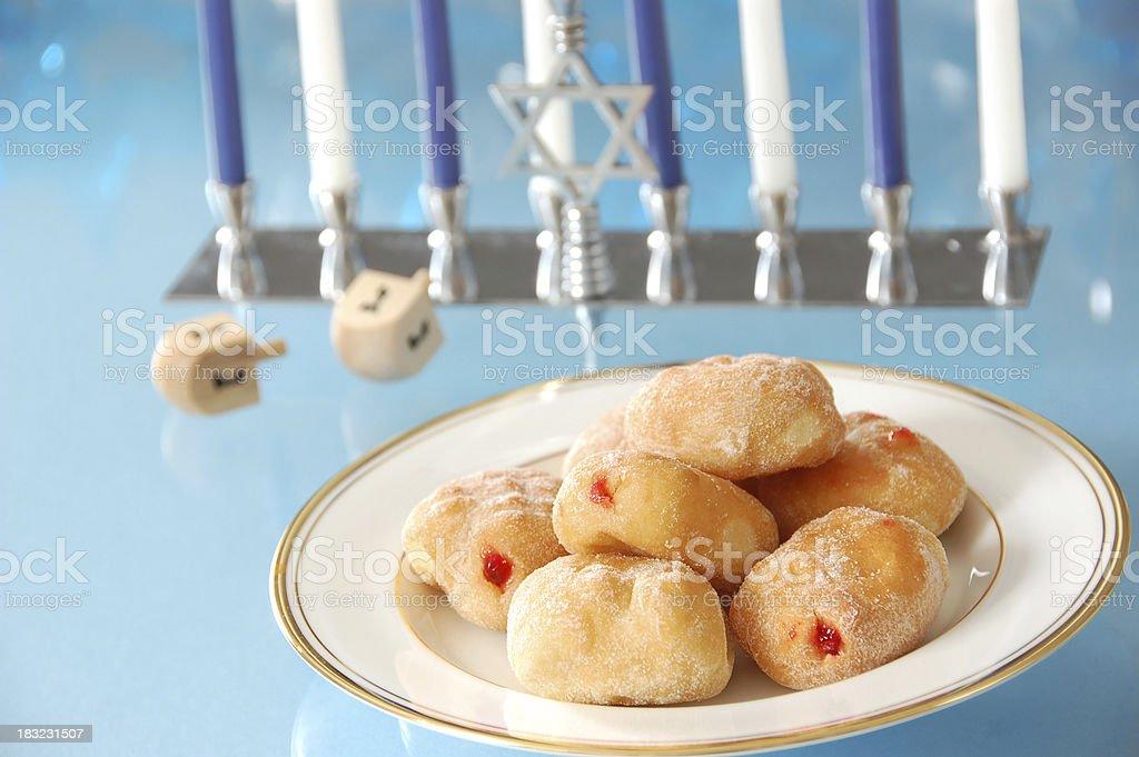 Sufganiyot for Hanukkah royalty-free stock photo