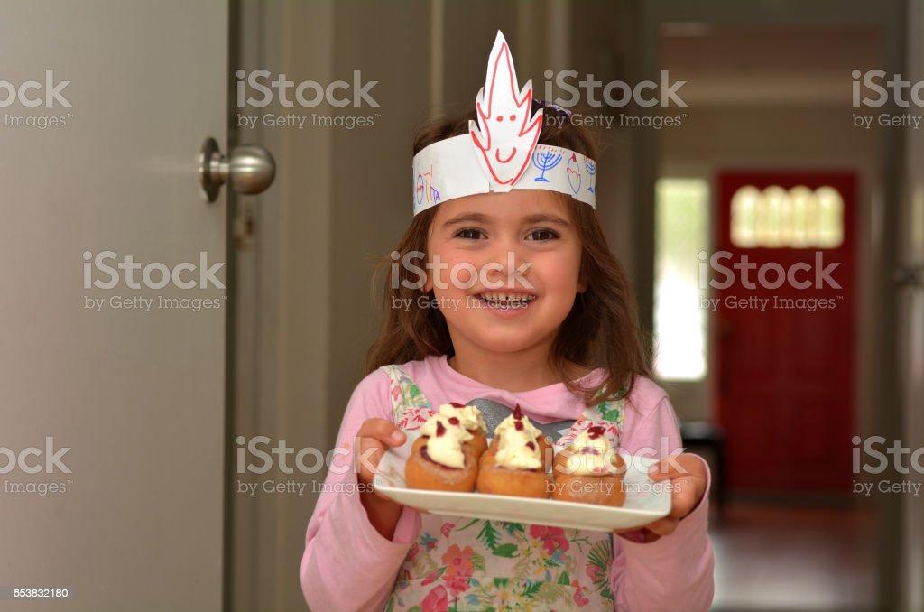 Sufganiyot - Hanukkah Jewish Holiday Food stock photo