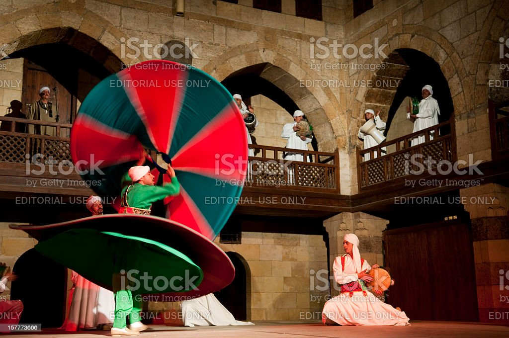 Sufi performance stock photo