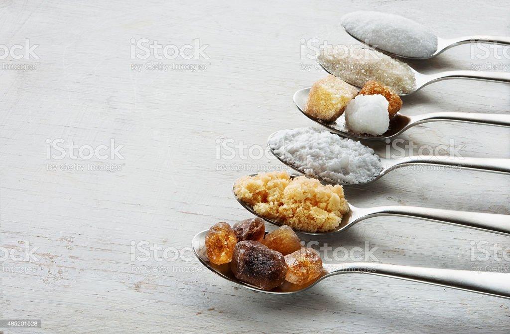 Sugar assortiment stock photo