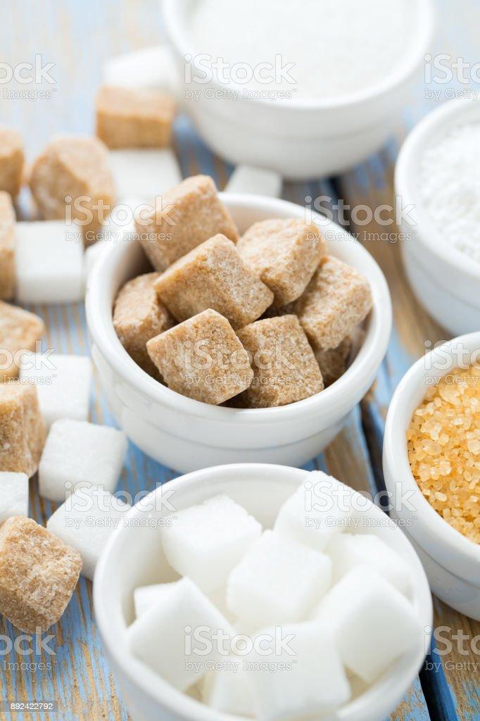 sugar assortment stock photo