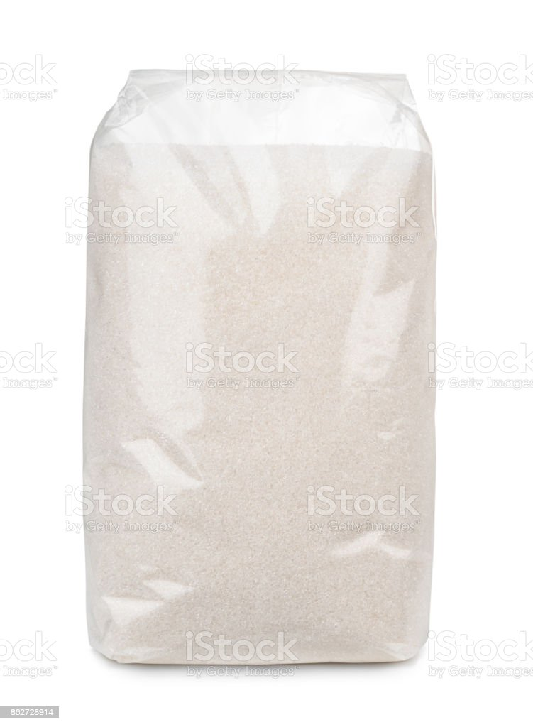 Sugar bag stock photo
