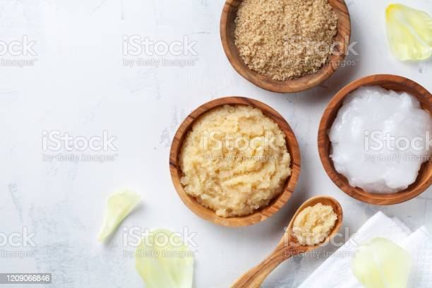 Sugar body scrub with ingredients on white stone table homemade for picture id1209066846?b=1&k=6&m=1209066846&s=612x612&h=oa2m 9ofqauv8 fiqtuj7dopdzh4 pwmyqxvtugfvue=