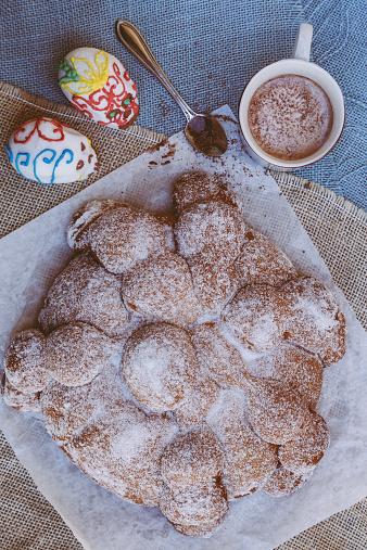 Sugar Bread (Pan de Muertos) with Hot Chocolate