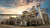 istock sugar cane industry factory structure 1195289879