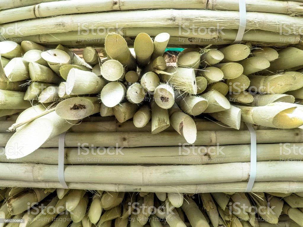 Sugar cane sale on street market zbiór zdjęć royalty-free
