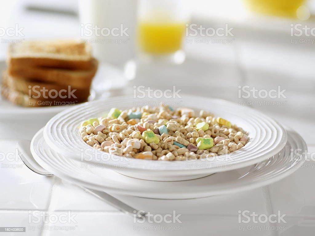 Sugar Coated Breakfast Cereal stock photo