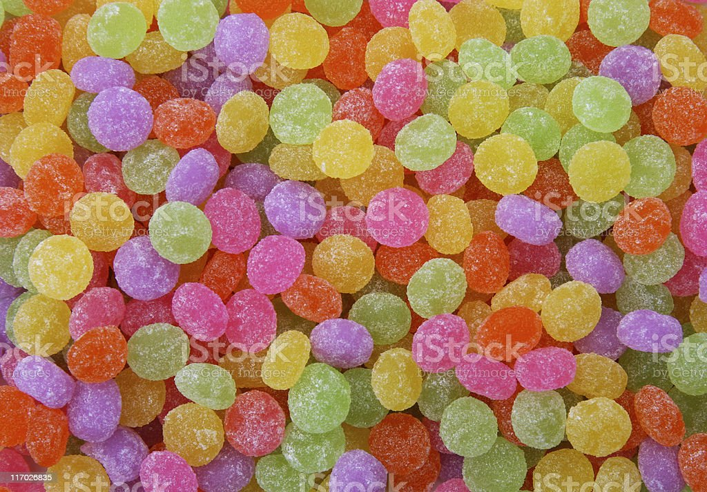 Sugar coated gum drop candies royalty-free stock photo