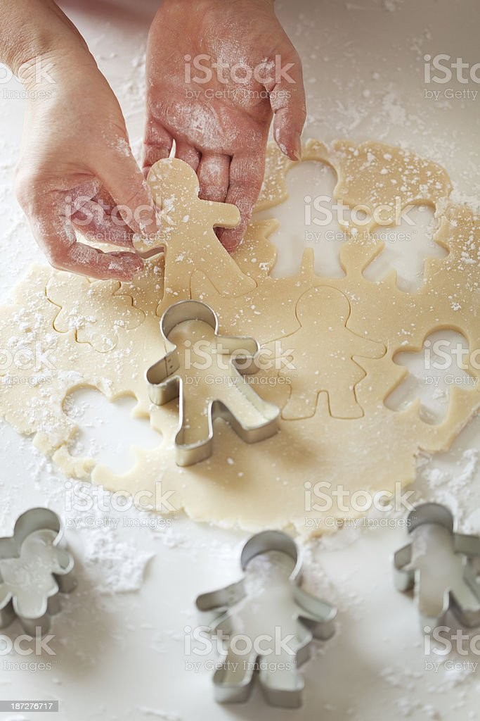 Sugar Cookies Family Group with Cookie Cutter Vertical stock photo