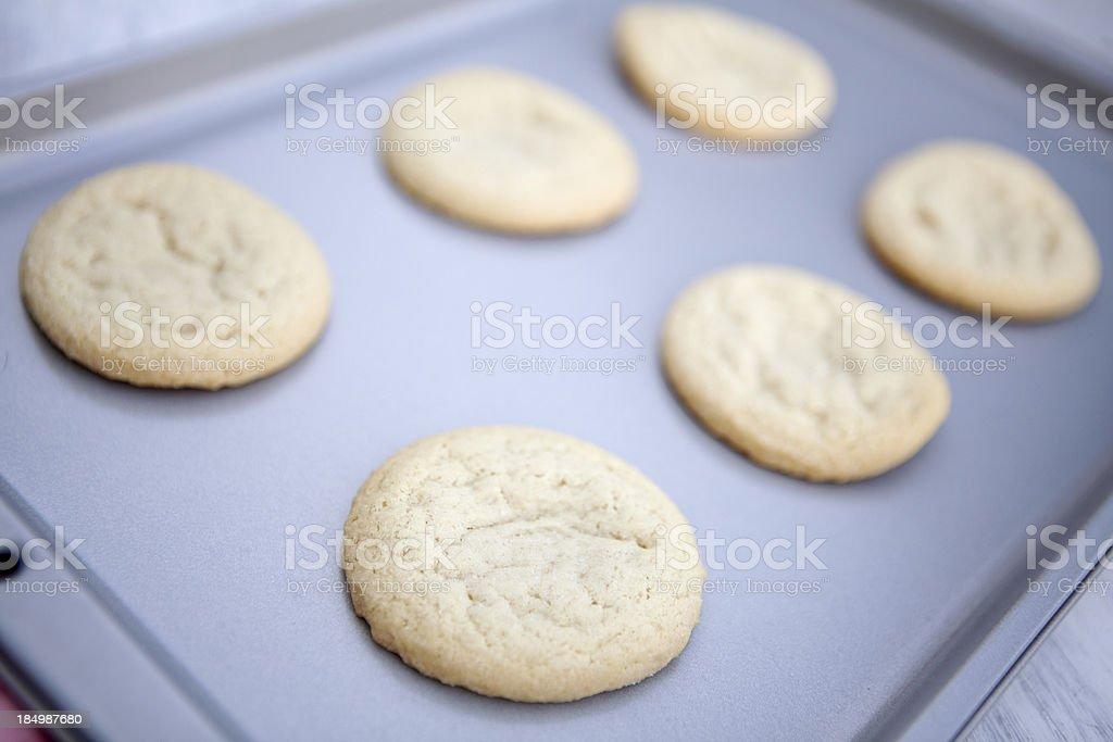 Sugar Cookies on Baking Pan royalty-free stock photo