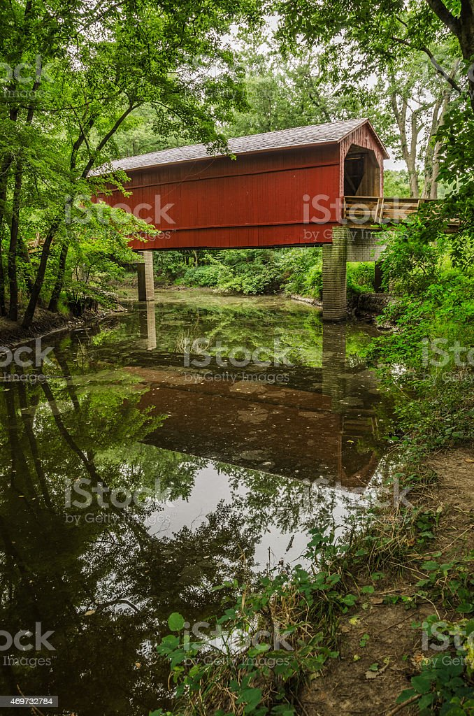 Sugar Creek Covered Bridge stock photo