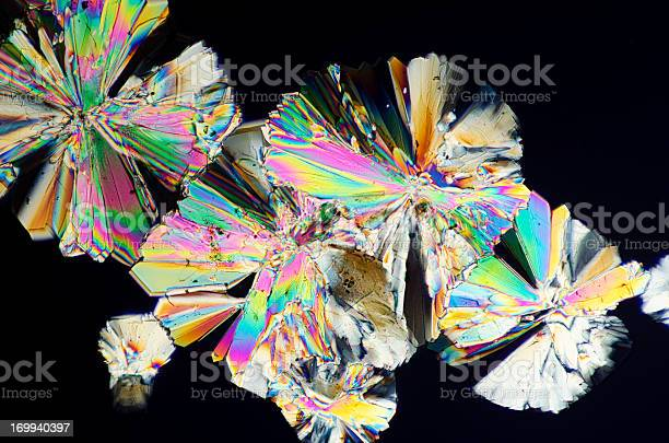 Sugar Crystals Micrograph In Abstract Pattern Stock Photo - Download Image Now