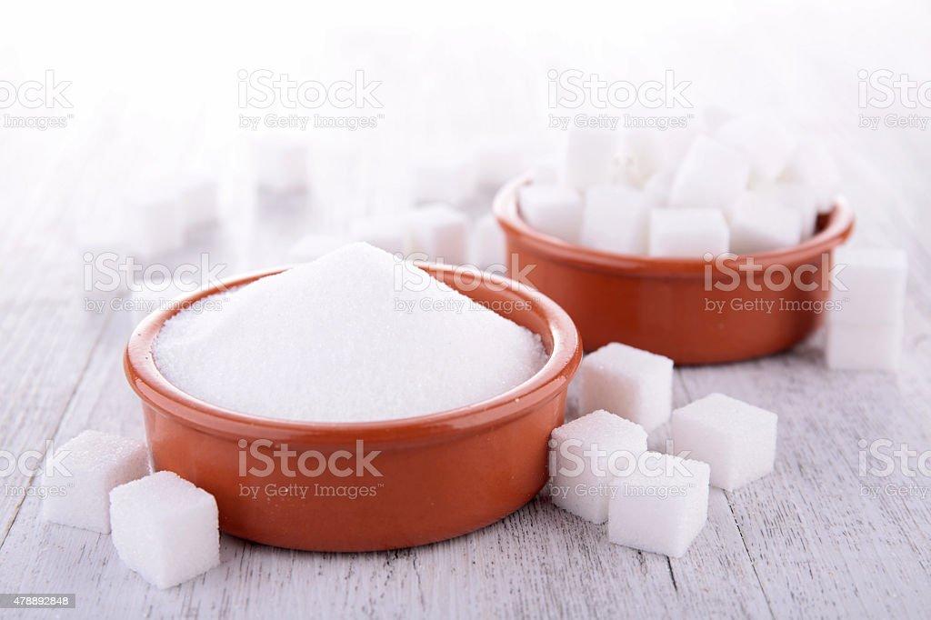 sugar cube and powder stock photo