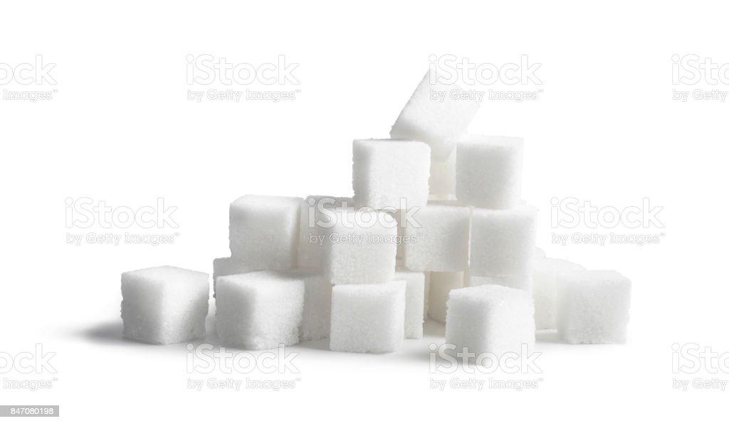 Sugar cubes isolated on white background royalty-free stock photo