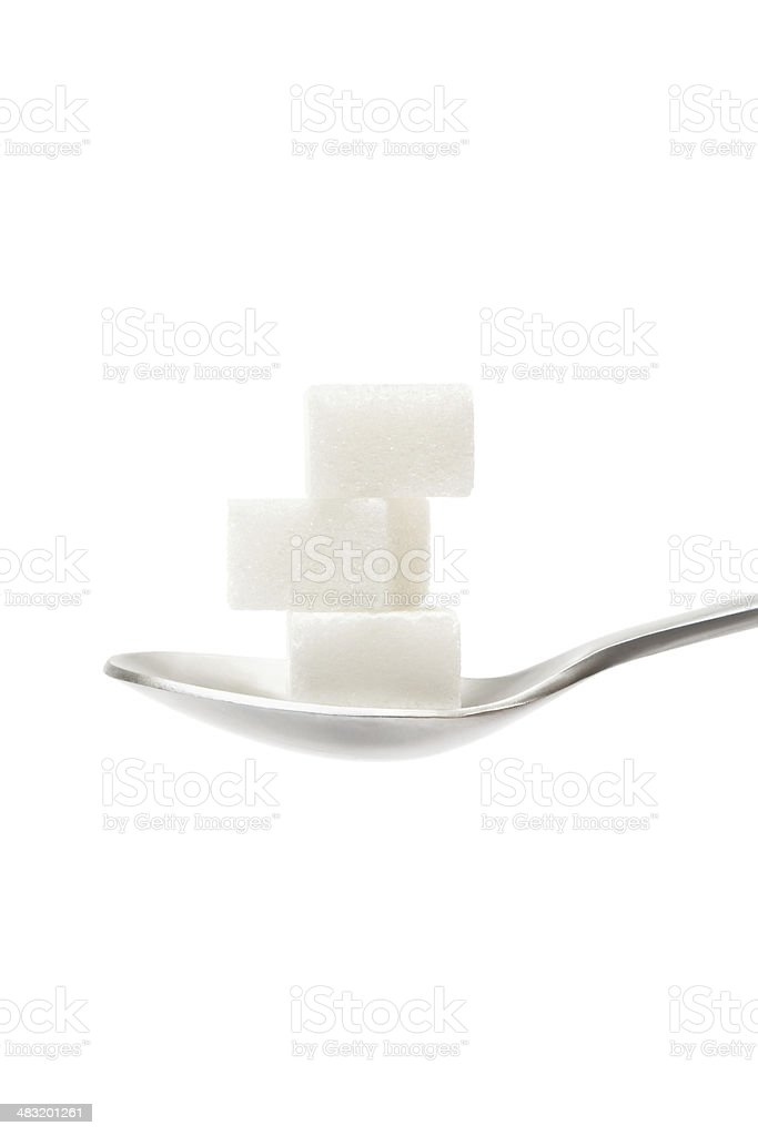 Sugar Cubes on Teaspoon stock photo