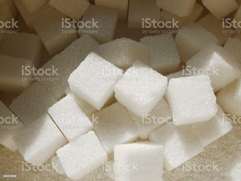 Cubetti di zucchero foto stock royalty-free