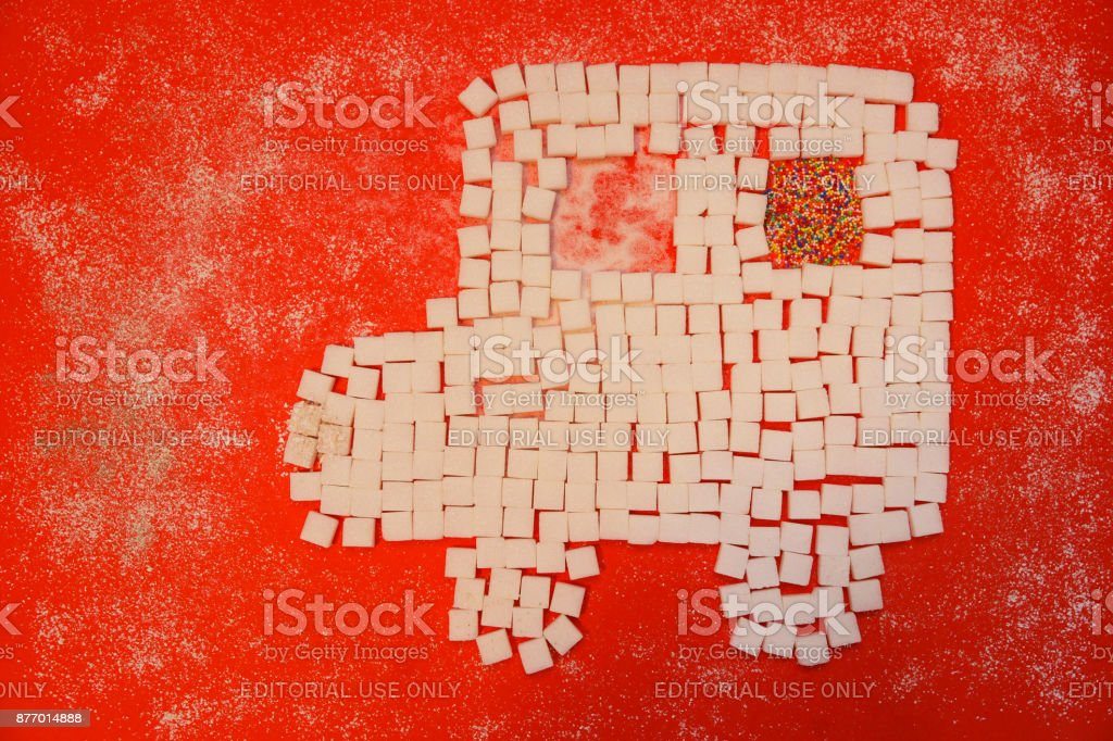 Sugar cubes -Symbol for diabetes stock photo
