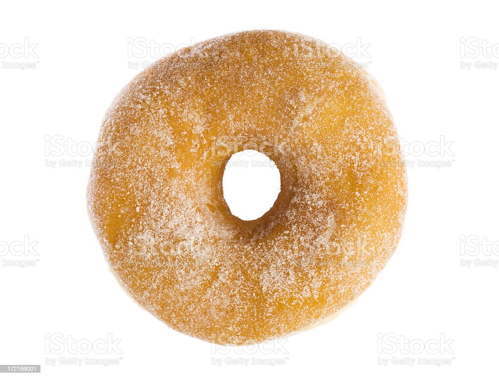 Sugar Donut Breakfast Pastry Isolated on White Background stock photo