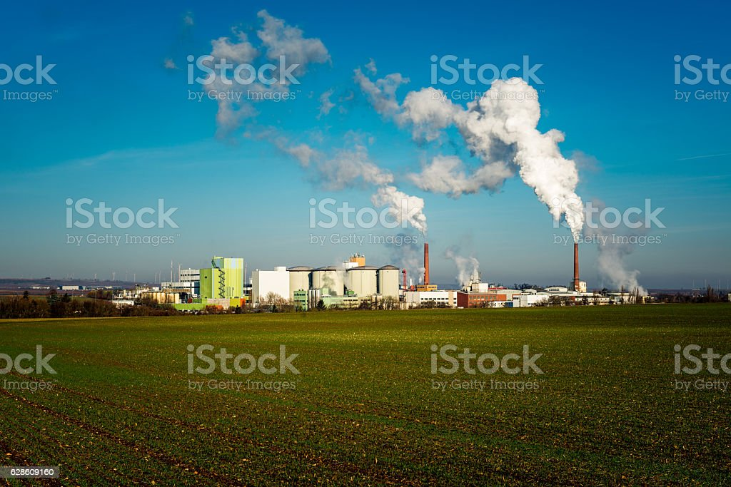 sugar factory in Germany stock photo