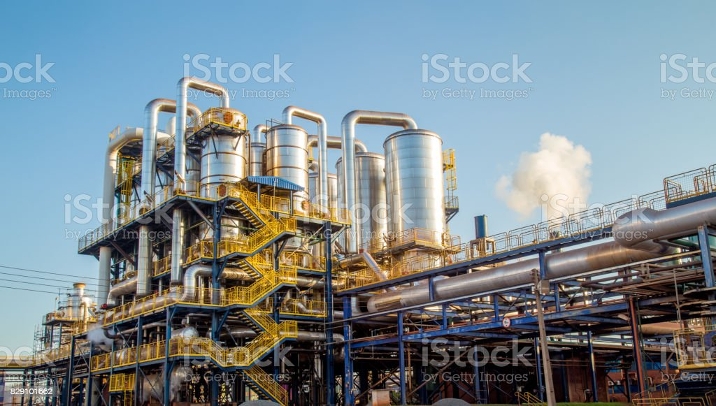 sugar factory industry line production cane process stock photo