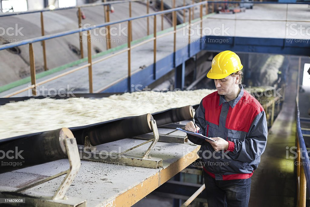 Sugar factory stock photo