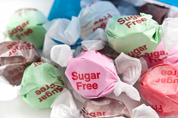 sugar kostenlosen süßigkeiten - zuckerfreie lebensmittel stock-fotos und bilder