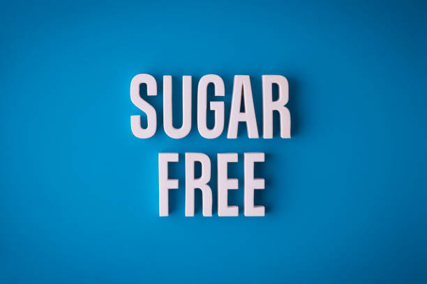 Sugar Free lettering sign stock photo