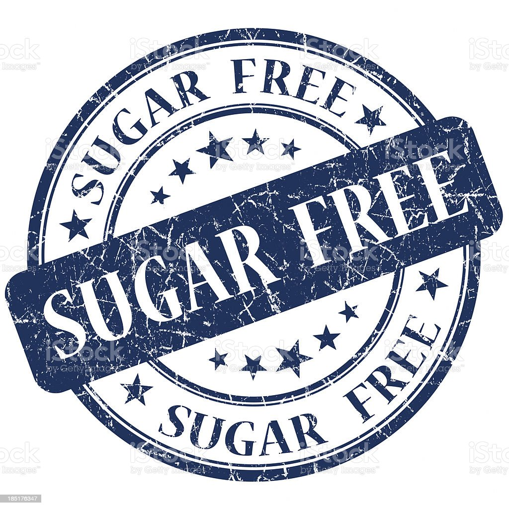 sugar free round blue stamp royalty-free stock photo