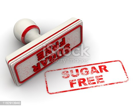 1181637623istockphoto Sugar free. Seal and imprint 1152913940