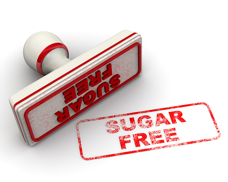 1181637623 istock photo Sugar free. Seal and imprint 1152913940