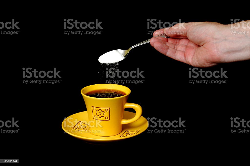 Sugar in the coffe royalty-free stock photo