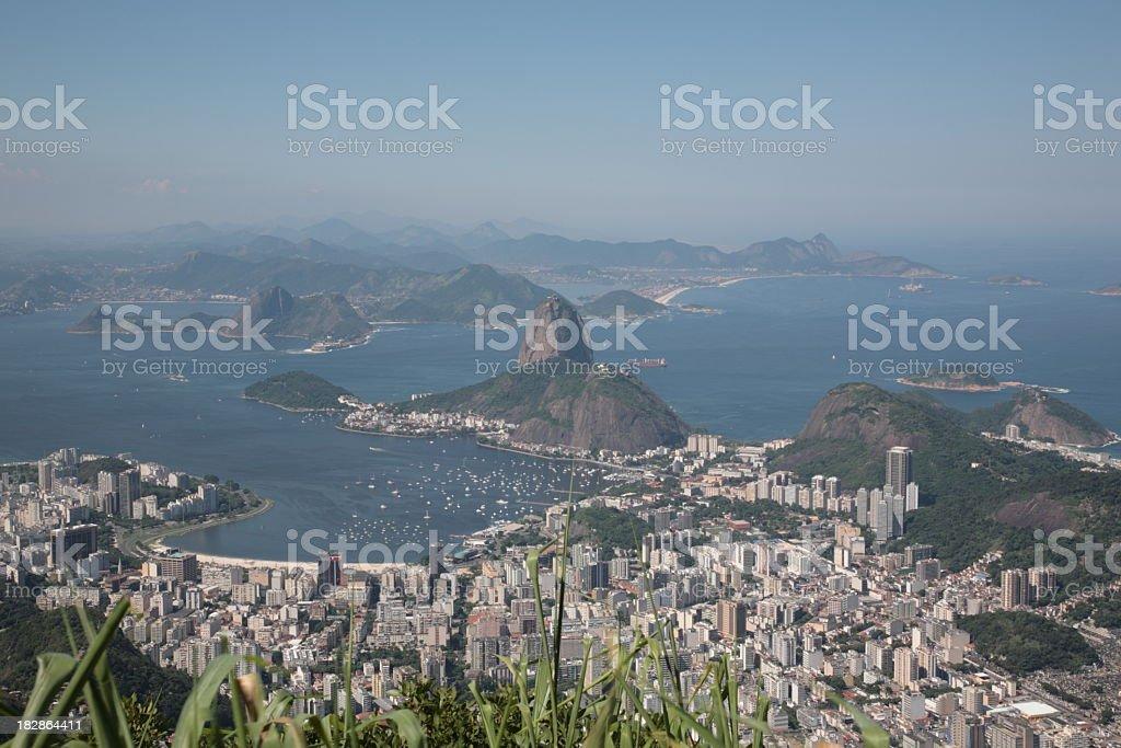 Sugar loaf and Botafogo Bay in Rio de Janeiro, Brazil royalty-free stock photo