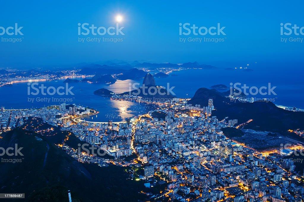 Sugar Loaf and Botafogo in Rio de Janeiro royalty-free stock photo