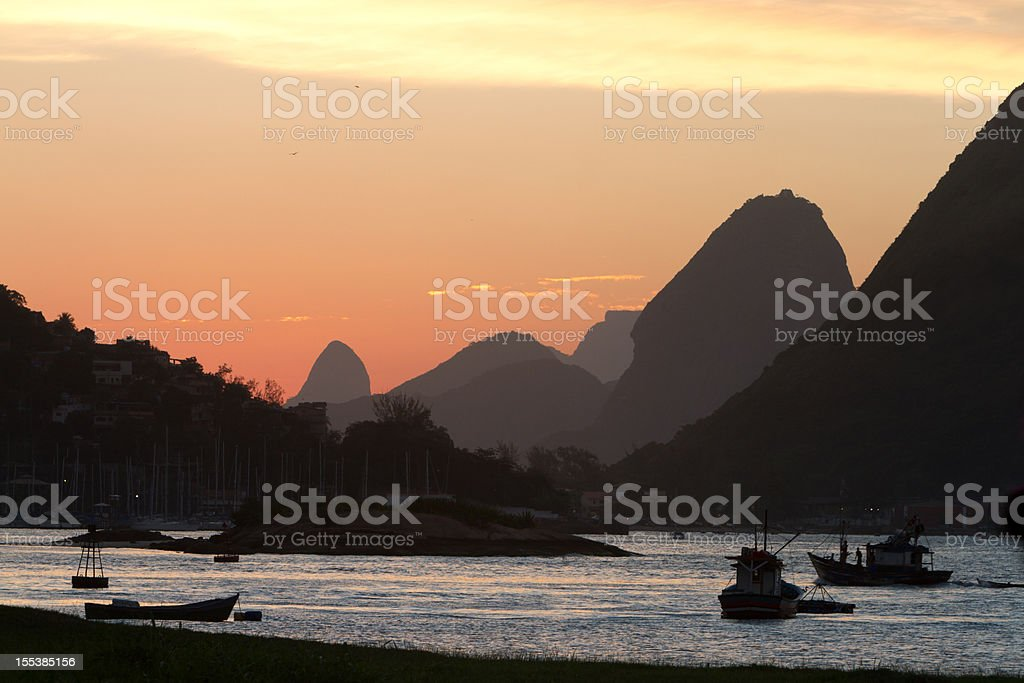 Sugar Loaf at Sunset royalty-free stock photo